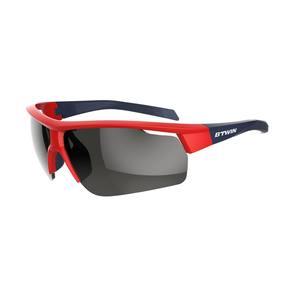 Fahrradbrille Roadr 500 Erwachsene Kat. 3 rot/blau