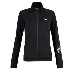 Sweatshirtjacke 100 Gym Stretching Damen schwarz