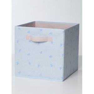 VERTBAUDET   2er-Pack Aufbewahrungsboxen Stoff grau/blau