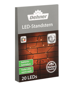 Dehner LED-Standstern, warmweiß
