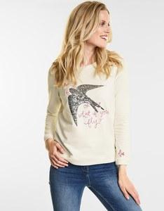 CECIL - Sweatshirt mit Vogelprint