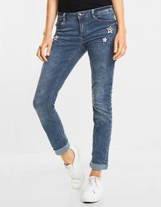 Street One - Jeanshose mit Sterne Patches