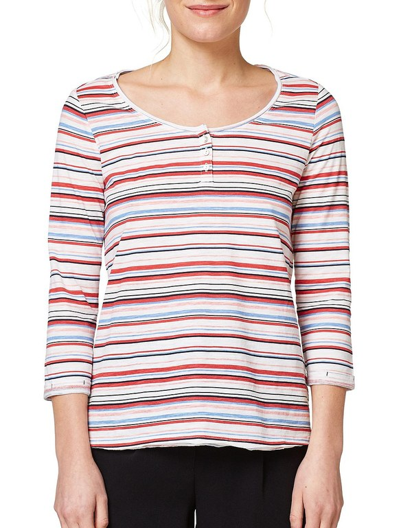 Esprit - Slub-Shirt mit Print