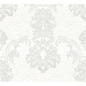 A.S. Creation Neue Bude 2.0 Vliestapete Damask Ornament Weiß