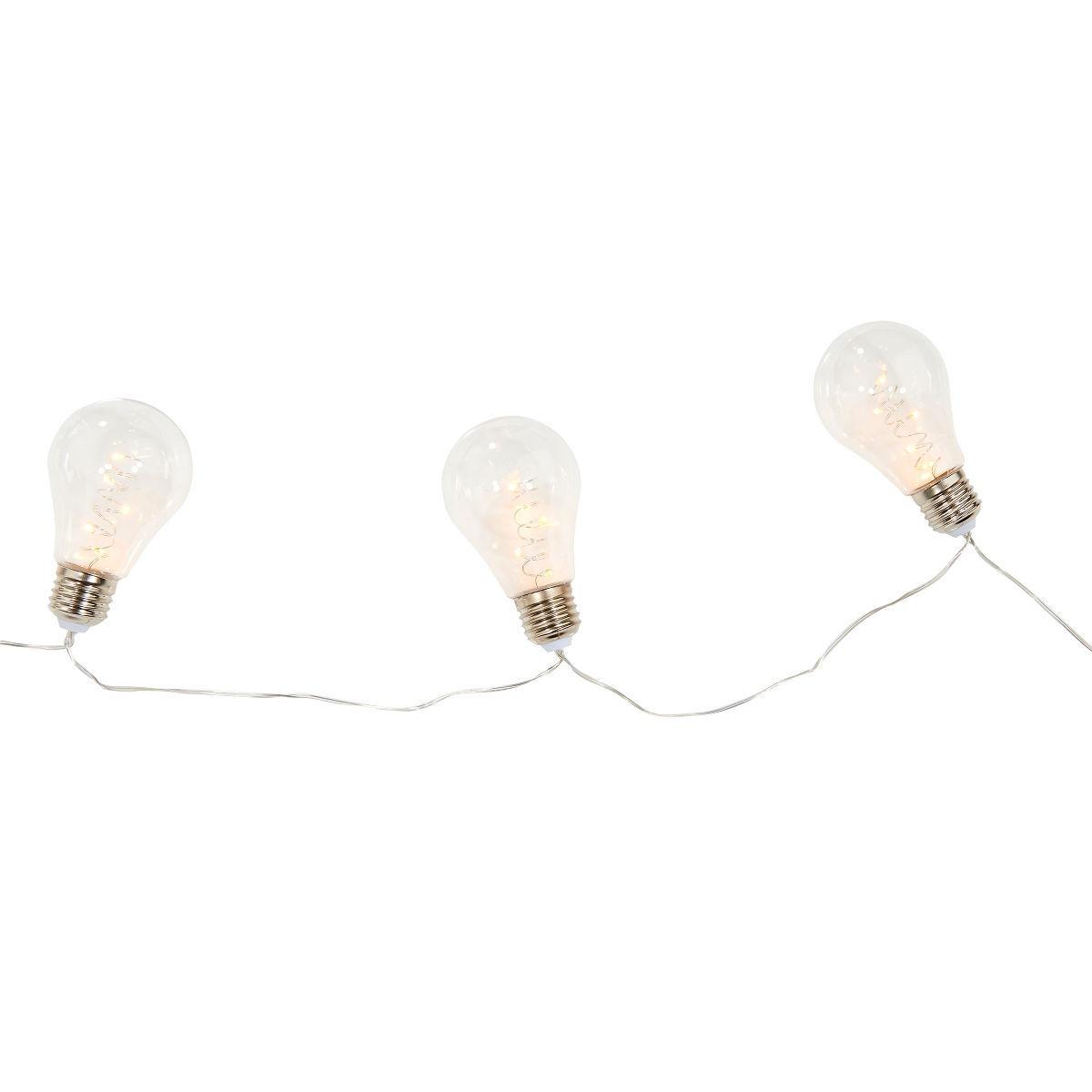 Bild 2 von LED Glühbirnenkette 10 Lichter transparent