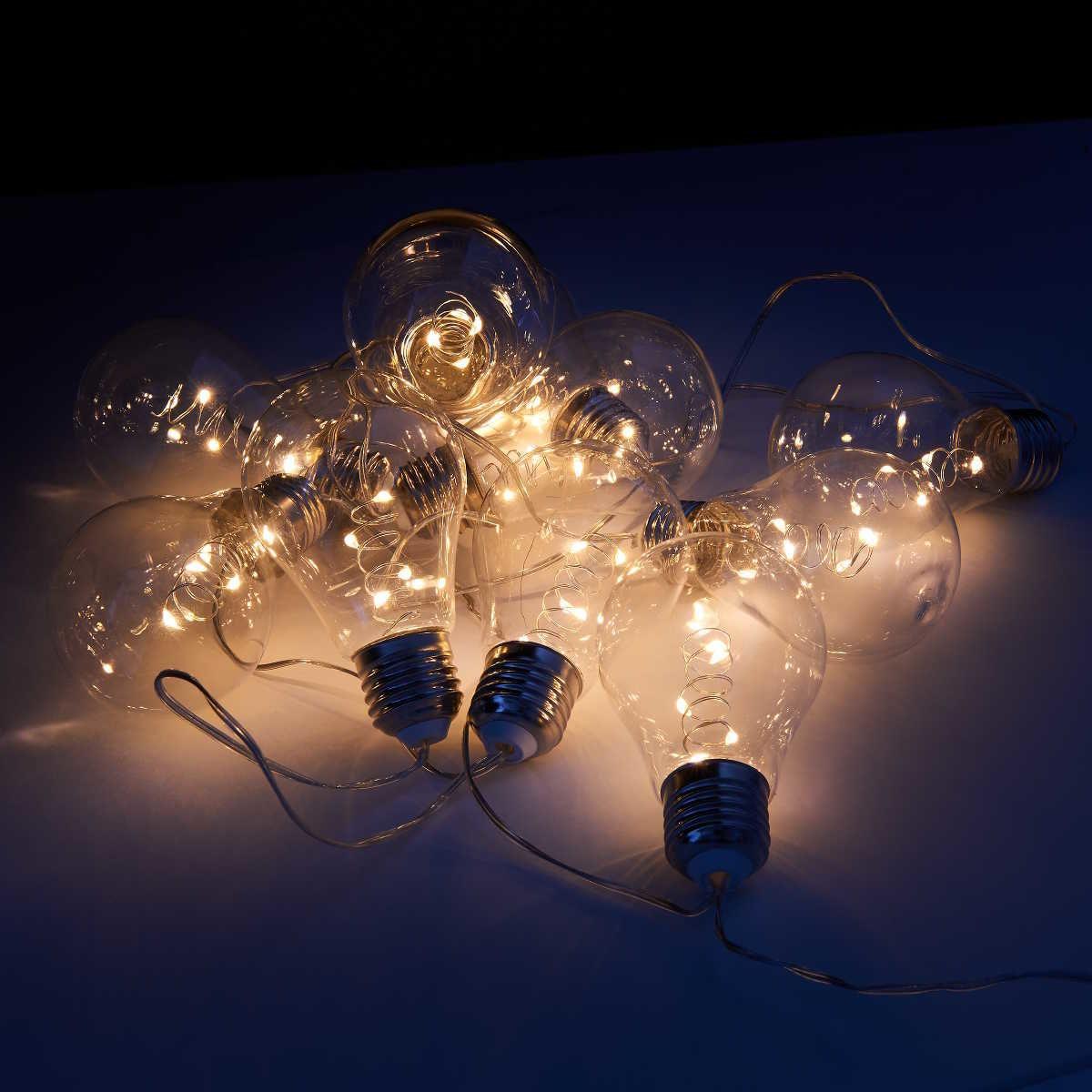 Bild 4 von LED Glühbirnenkette 10 Lichter transparent