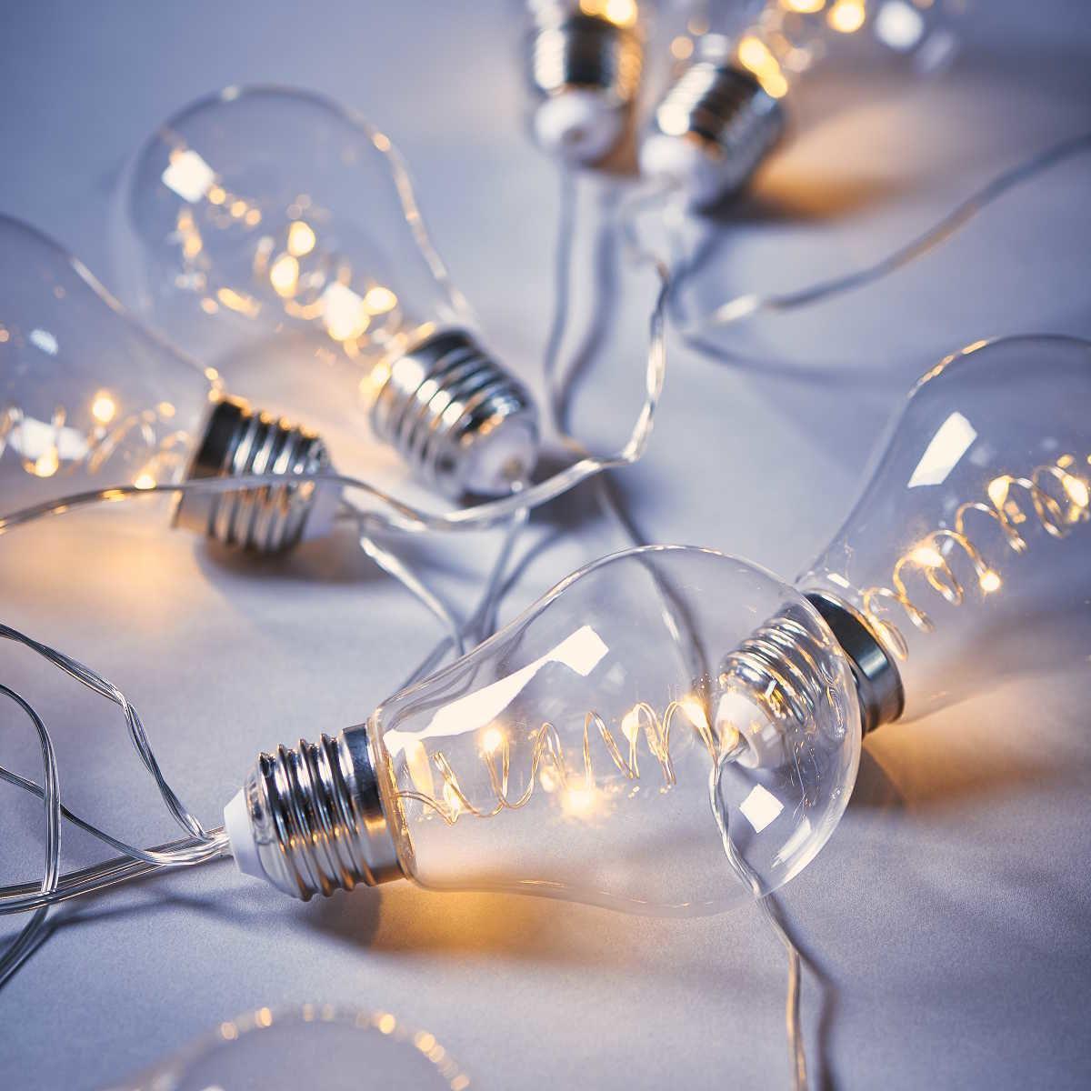 Bild 5 von LED Glühbirnenkette 10 Lichter transparent