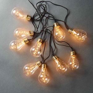 Glühbirnenlichterkette 10 Lichter