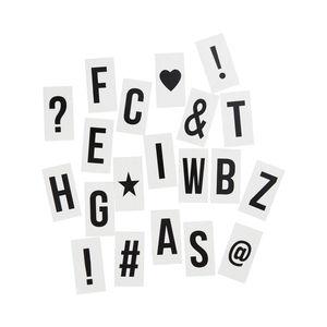 Extra-Buchstaben & Zeichen für Light Box transparent