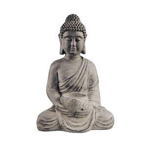 Statue sitzend mit Kerzenteller 46 cm