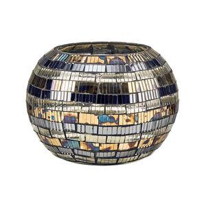 Mosaik Windlicht Streifen 9,5 cm