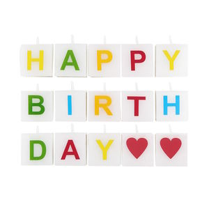 Kerze Happy Birthday 15 tlg.