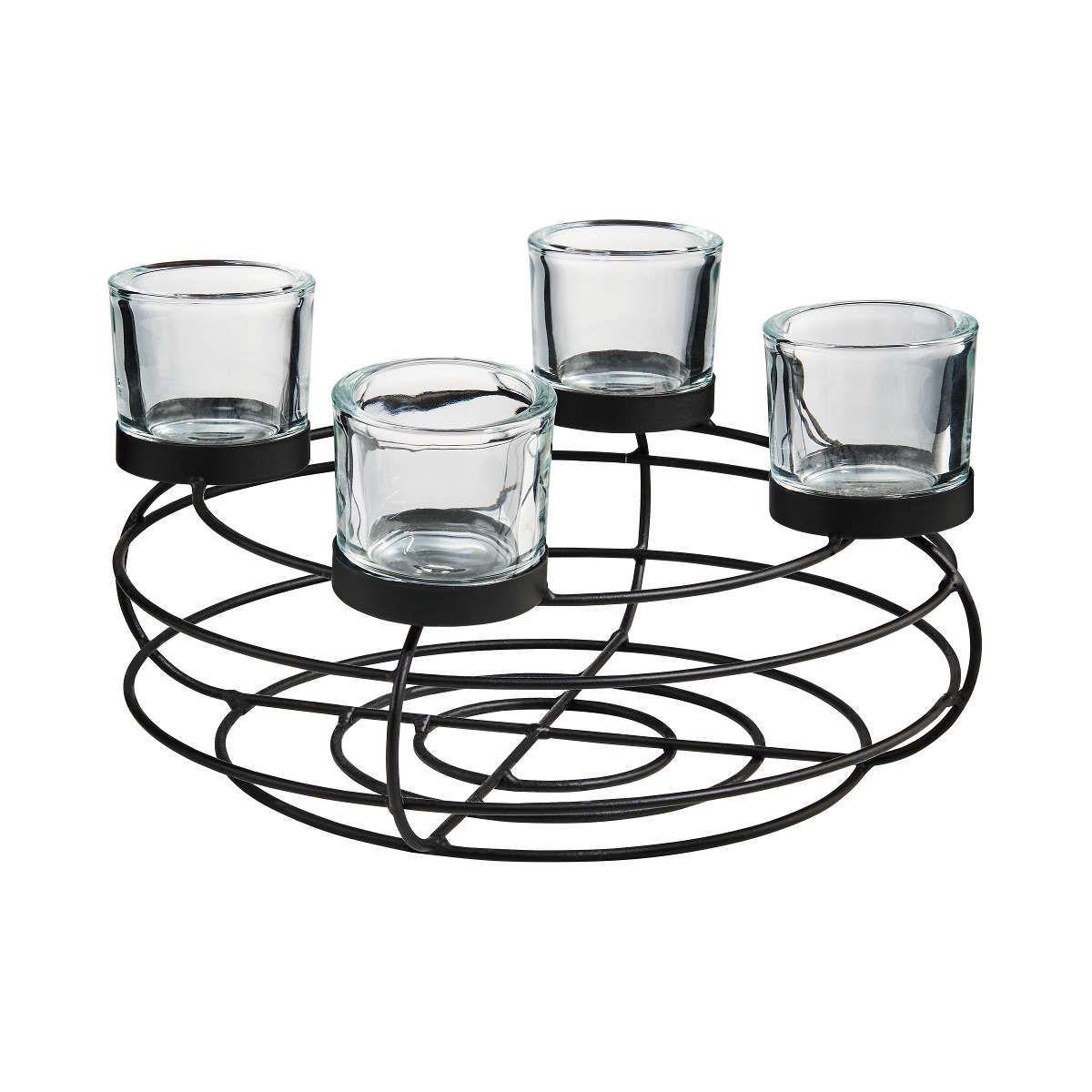 Bild 1 von Adventskranz mit Teelichthaltern