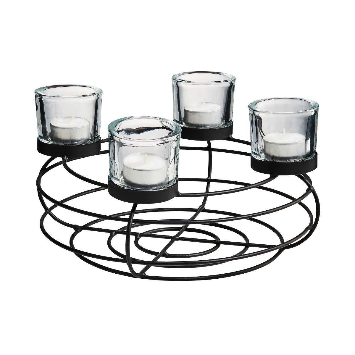 Bild 2 von Adventskranz mit Teelichthaltern