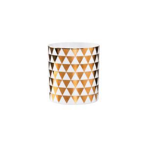 Teelichthalter mit goldenen Rauten klein