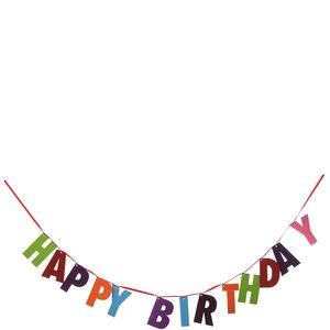 """Girlande Filz """"Happy Birthday"""""""
