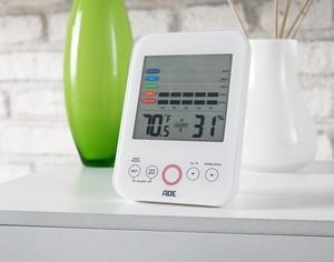 ADE Digitales Hygrometer, Weiß