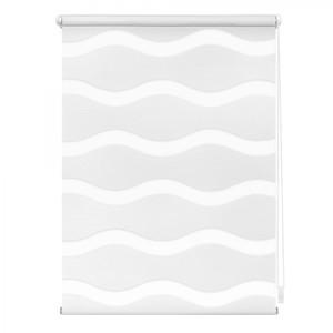 Lichtblick Duo Rollo Welle Klemmfix, ohne Bohren, Weiß, 45 cm x 150 cm (B x L)