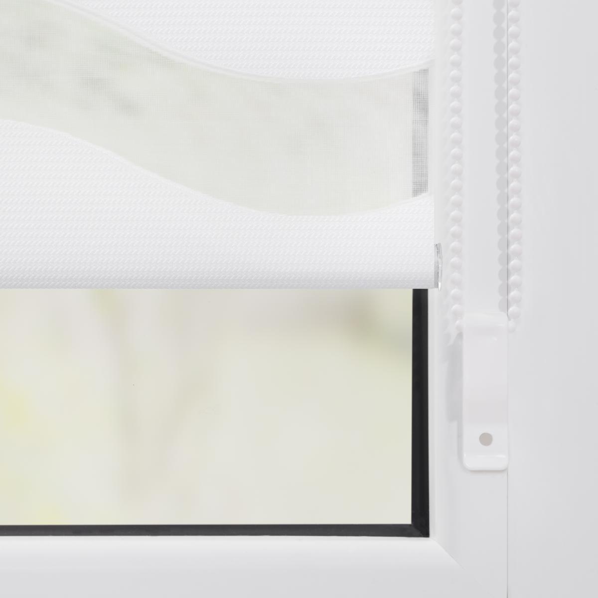 Bild 5 von Lichtblick Duo Rollo Welle Klemmfix, ohne Bohren, Weiß, 80 cm x 150 cm (B x L)