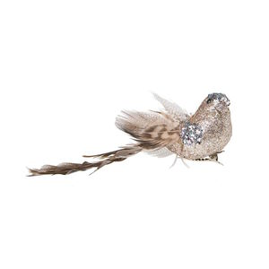 Clip Vogel Glitter 14 cm