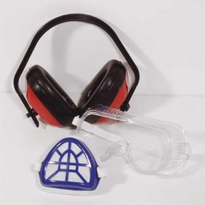 Mauk Sicherheitsset mit Ohrschützer und Filtermaske Staubmaske