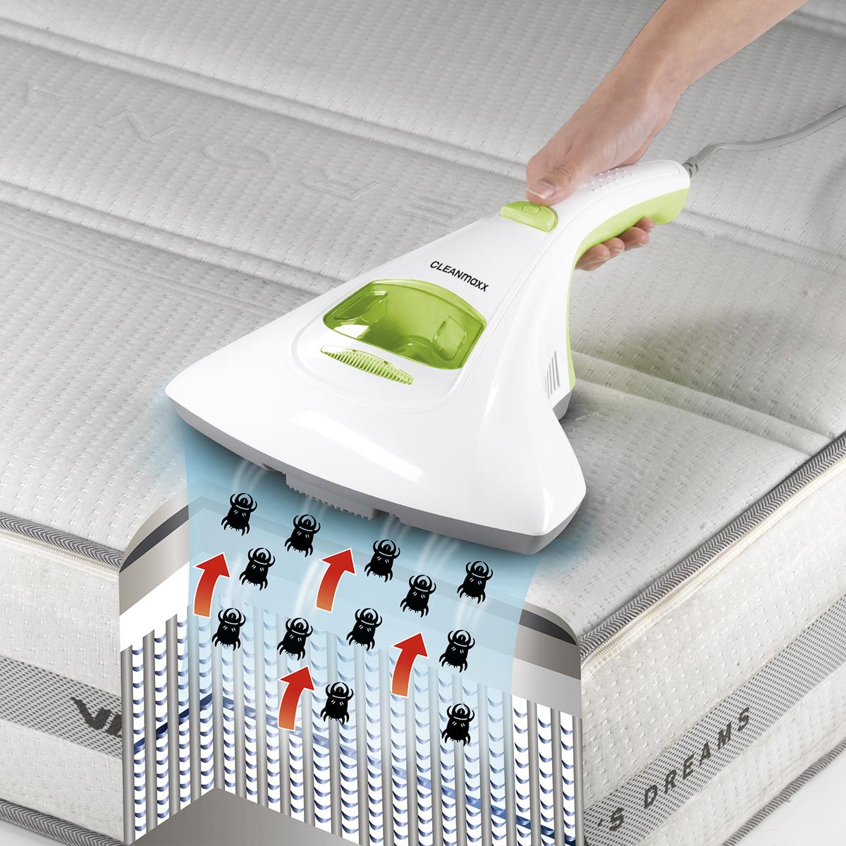 Bild 1 von CLEANmaxx Milben-Handstaubsauger mit UV-C-Licht 300W weiß/limegreen