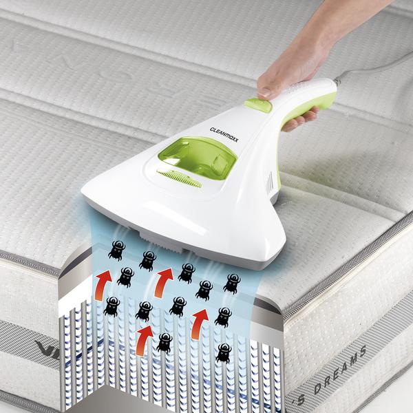 CLEANmaxx Milben-Handstaubsauger mit UV-C-Licht 300W weiß/limegreen
