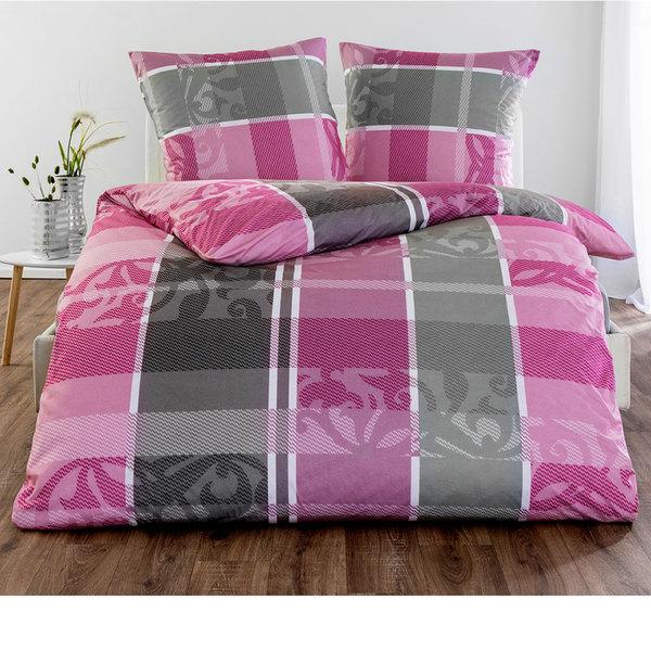 Dreamtex Mikrofaser Jersey Flanell Bettwäsche 155 X 220 Cm Pink