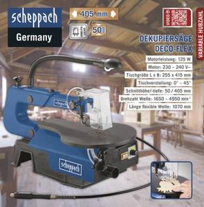 Scheppach Dekupiersäge DECO-FLEX