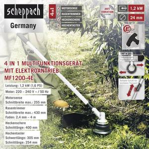 Scheppach 4in1 Elektro-Multifunktionsgerät MF 1200-4E