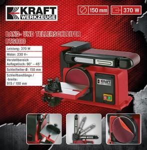 Kraft Werkzeuge Band- und Tellerschleifer BTS800