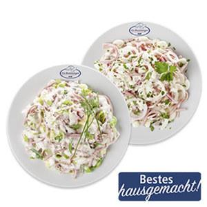 Schichtsalat oder Schinken-Lauchsalat je 100 g