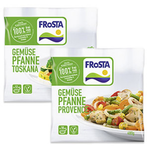 Frosta Gemüse Pfanne versch. Sorten, gefroren, jeder 480-g-Beutel