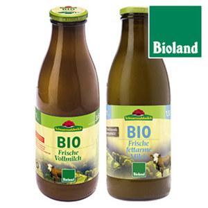 Schwarzwaldmilch Bioland Frische Milch 1,5/3,8 % Fett, jede 1-Liter-Flasche (+ 0,15 Pfand)