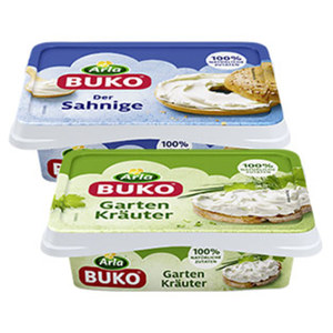 Arla Buko Dänische Frischkäsezubereitung, 70 % Fett i. Tr./18 % Fett absolut, versch. Sorten, jede 200-g-Packung
