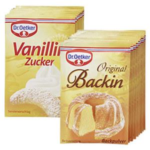 Dr. Oetker Backpulver Original Backin oder Vanillin Zucker jede 10er-Packung