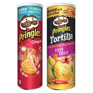 Pringles oder Tortilla Chips versch. Sorten. jede 180/190-g-Dose