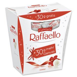 Raffaello + 30 g gratis jede 260-g-Packung