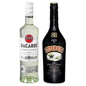 Bacardi Rum Carta Blanca oder Baileys Irish Cream 37,5/17 % Vol., jede 0,7-l-Flasche
