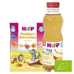 Hipp Bio-Saft oder Knabbersternchen versch. Sorten, jede 500-ml-PET-Flasche /jeder 30-g-Beutel