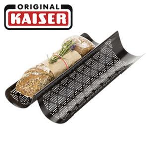 Baguette- Brot-Backform - antihaftbeschichtet - CrispTec-Perforierung - Maße: ca. 40 x 20 cm