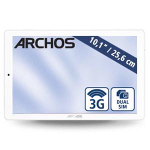 Multimedia-Tablet-PC Core 101 3G · Quad-Core-Prozessor (bis zu 1,3 GHz) · 2 Kameras (0,3 MP/2 MP) · microSD™-Slot bis zu 32GB · Android™ 7.0 · weiß/silber oder weiß/rot