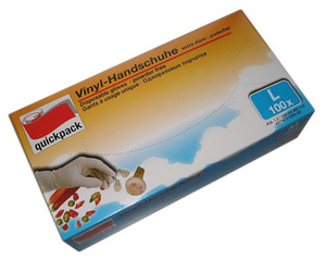 Quickpack Einweg-Handschuhe 100 Stück, Größe L
