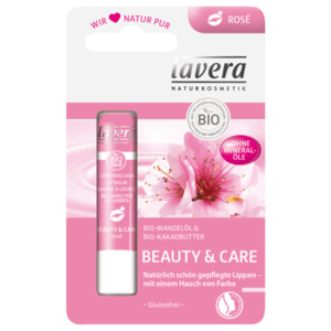 Lavera Lippenbalsam Beauty & Care mit Bio-Mandelmilch 4,5g