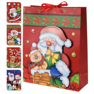 Weihnachts-Geschenktüte - sortiert - medium