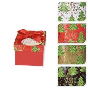 Weihnachts-Geschenkbox - farblich sortiert - 8,5x8,5 cm