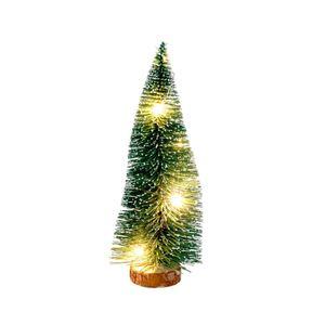 Deko-Tannenbaum mit 5 LEDs 21cm beschneit