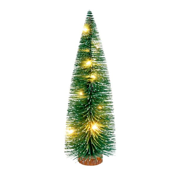 Tannenbaum Der Schneit.Deko Tannenbaum Mit 10 Leds 30cm Beschneit