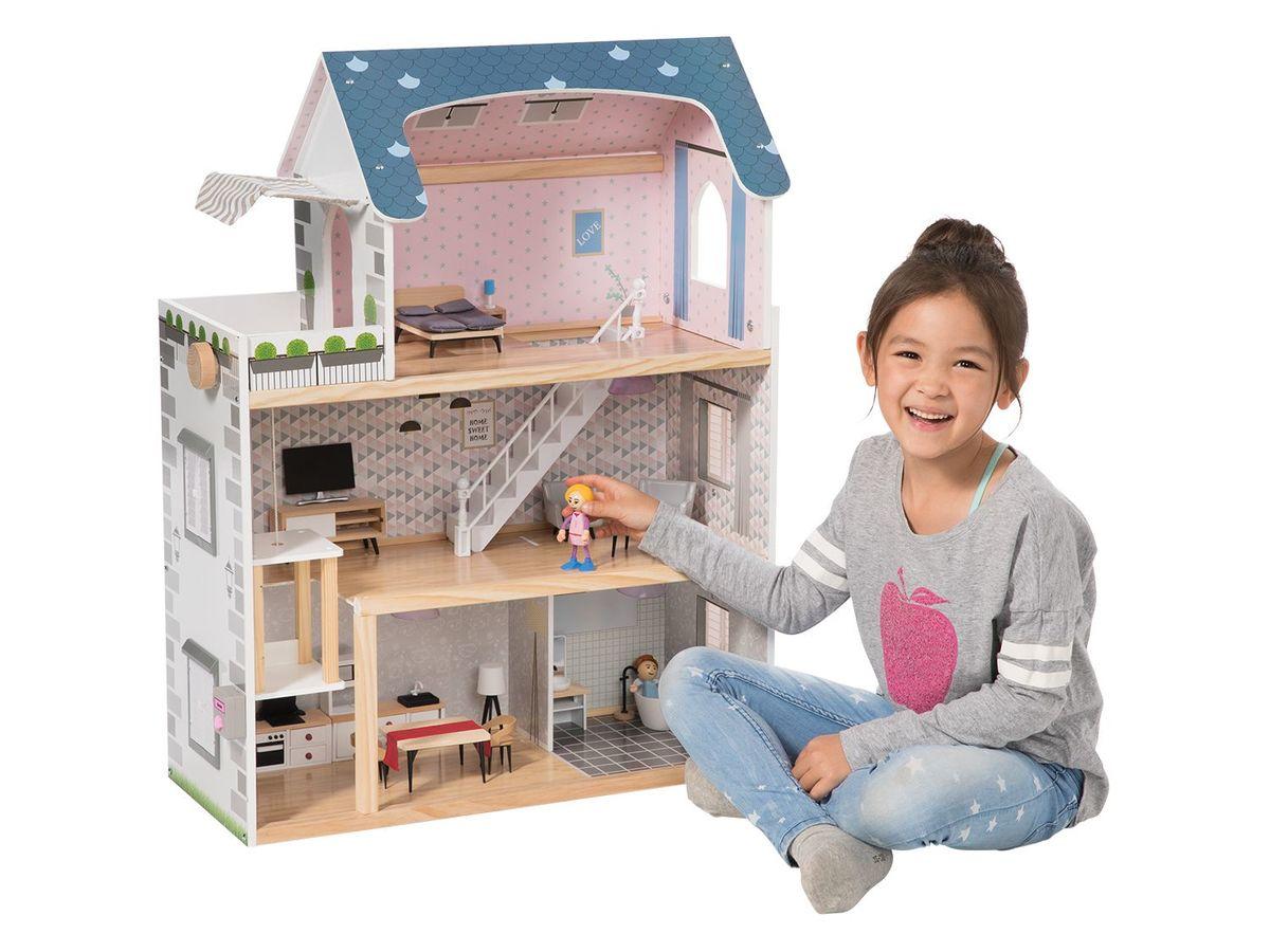 Bild 2 von PLAYTIVE® JUNIOR Puppenhaus, 34-teilig