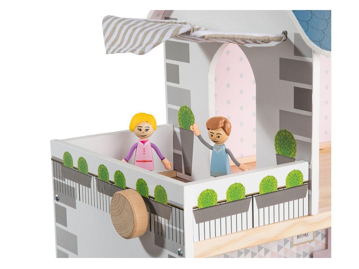 Bild 3 von PLAYTIVE® JUNIOR Puppenhaus, 34-teilig